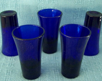 Cobalt Blue Shot Glasses (5)