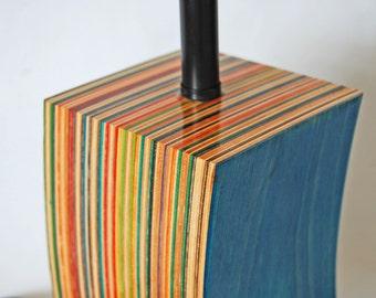 Lamp Made from Repurposed Skateboards