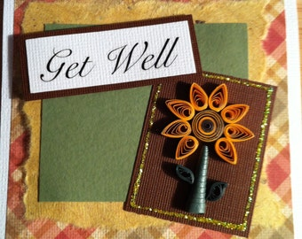 Set of 4 Quilled Sunflower cards