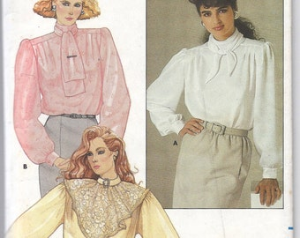 1985 Butterick 3538 Blouse Pattern, Size 8