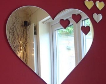 Hearts out of Love Hearts Mirror 35cm x 25cm