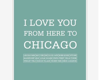 Travel Artwork Chicago, Travel poster