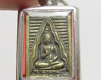 lp wat paknam phra lp sod brass amulet thai buddha pendant dharma buddhist buddhism Thailand nice gift