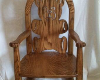 Childs Teddy Bear Rocking Chair
