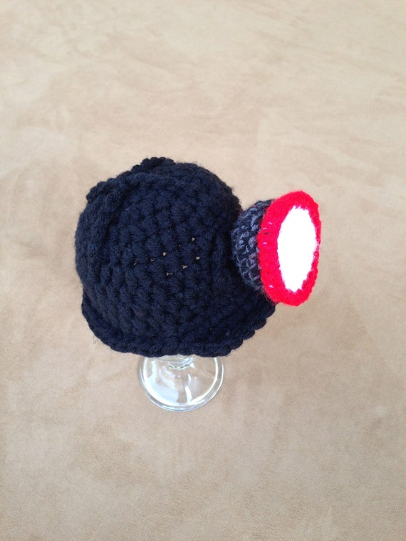 Items similar to Crochet Coal Mine Hard Hat w/ Light on Etsy