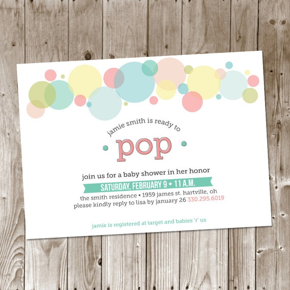 ready to pop baby shower diy printable invitation baby boy baby