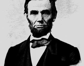 Abe Lincoln Print 8x10 Fine Art Print - History Teacher Gift - Abraham Lincoln Wall Art