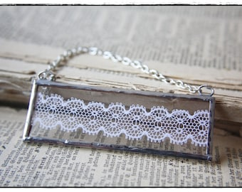 soldered Charm with lace