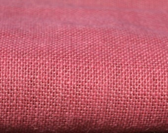 Pink Burlap Fabric Quarter Yard - Natural ecofriendly fabric - natural burlap - Jute - Hessian-we take wholesale fabric orders-Quarter yard