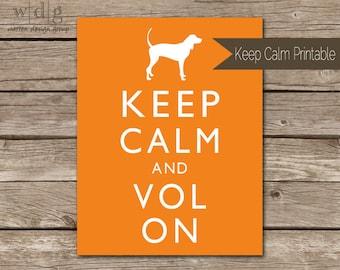 Keep Calm College Football Printable- University of Tennessee  // DIY Printable