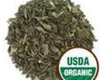 Spearmint Leaf Certified Organic 16 OZ Dried For Crafting or Teas