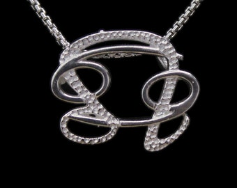 35 Cancer and Leo Silver Unity Pendant
