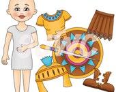 ARMOR of GOD Girl Children's File Folder Game - Downloadable PDF Only