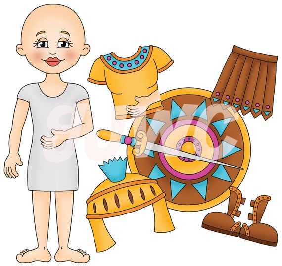 Armor of god girl children s file folder game downloadable pdf only