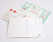 Postick: A pack of 10 Adhesive, postcard-back labels
