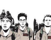 Ghostbusters Art Print - Multiple Sizes - Dan Aykroyd, Bill Murray  and Harold Ramis - Who You Gonna Call