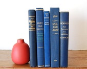 on sale / 20% off / blue vintage books / navy & gold 5 book collection - GeneralTaxonomy