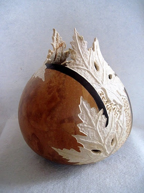 Items similar to carved gourd vase on etsy
