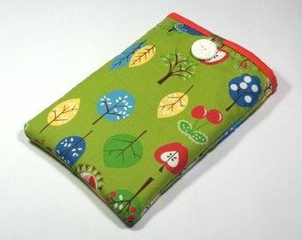 iPad Mini Cover Apple Orchard, Handmade Green Apples iPad Mini Case, iPad Mini Sleeve