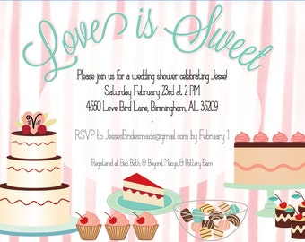SALE!: Dessert Themed Party or Shower Invitation