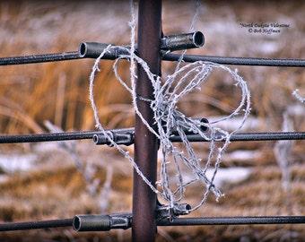 North Dakota Valentine- 8x12 Barnwood Framed