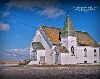 Our Lady of the Lake Catholic Church- 8x12 Rustic Barnwood Framed