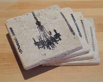 Chic Chandelier Coasters - Set of 4 - gift box included