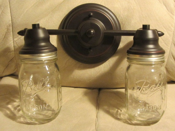 Amazing Mason Jar Bathroom Vanity Light Fixture4 By Jodiscollectibles72