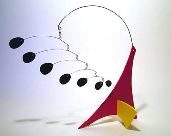 TriAll Modern Art Sculpture Mobile Stabile Table Top Abstract Kinetic Decor