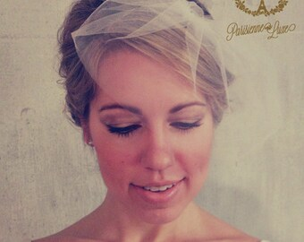 MARIE SMALL - birdcage veil, bird cage veil, blusher veil, small blusher, tulle bridal birdcage veil, small birdcage, small bridal birdcage