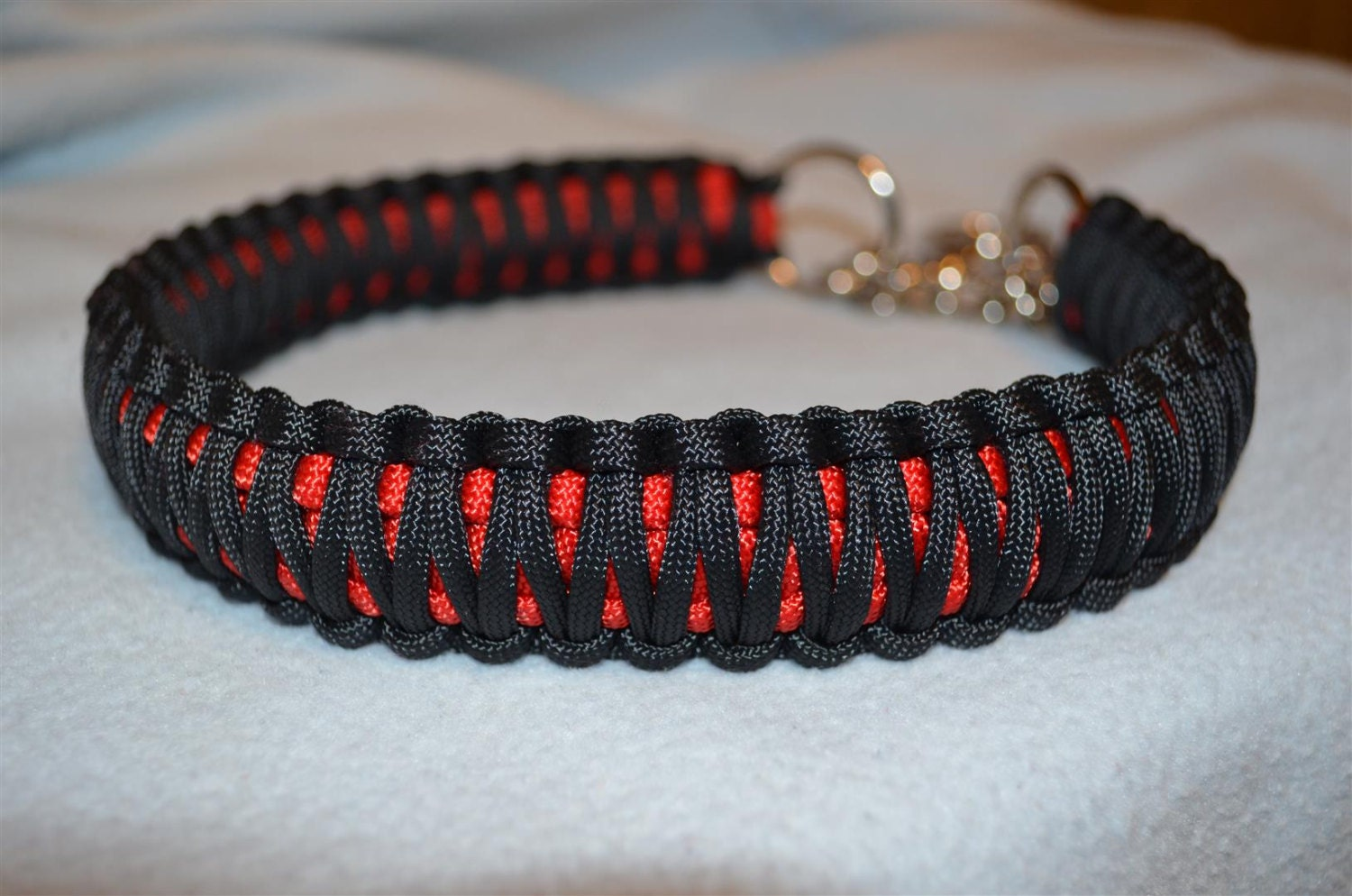 The gallery for paracord martingale dog collar for Paracord leash instructions