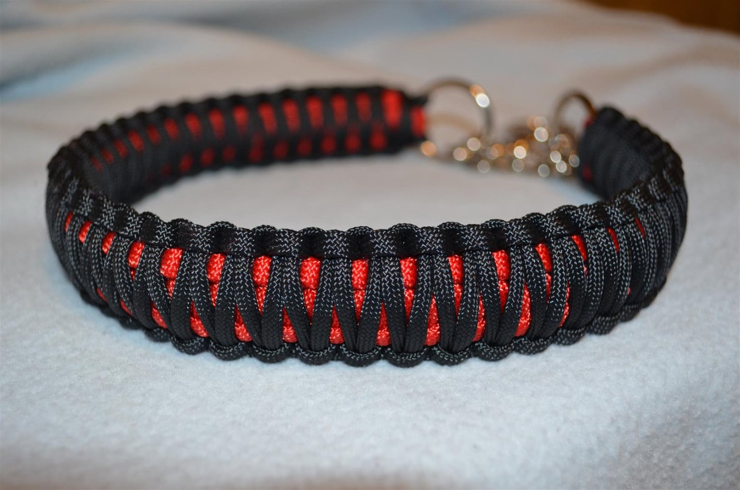 paracord king cobra martingale dog collar