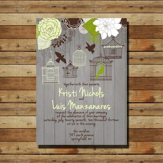 Wedding Invitations Birdcage: Items Similar To Vintage Birdcage Bird Cage Wedding