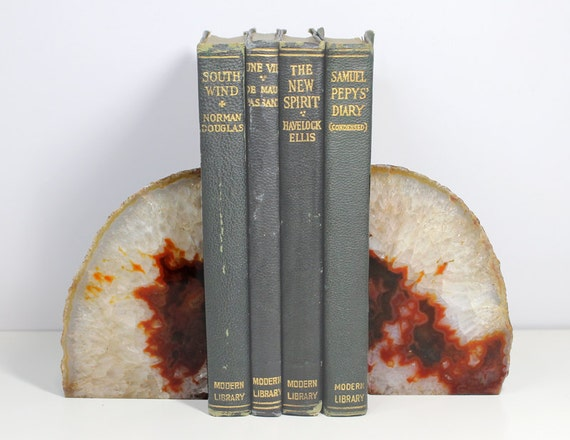 Agate Geode Bookends Home Decor Photography Prop Interior Decor