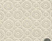 Ivory Tan Lace Fabric Medallion Pattern Lace Geometrical Circle Oval Ivory Wedding Lace Bridal Lace Fabric by the Yard - 1 Yard Style 153