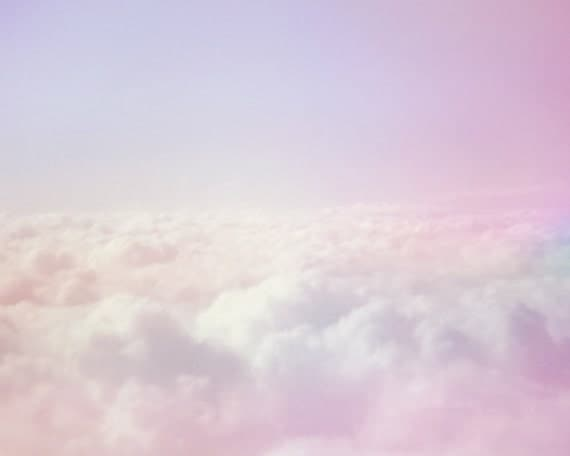 Items similar to Dreamy Pastel Clouds, Sky Photo Print ...