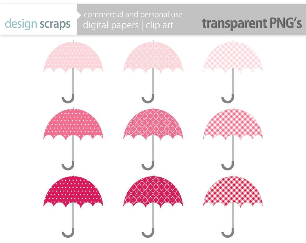 Pink Umbrella Clip Art Umbrella clip art   1050