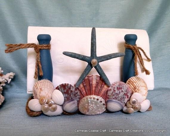 Nautical napkin holder beach home decor - Coastal napkin holder ...