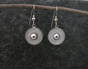 Filigree  Earrings, Filigree  silver  earrings,  Silver earrings , Yemenite earrings, Israel jewelry