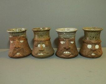Pottery Face Mugs