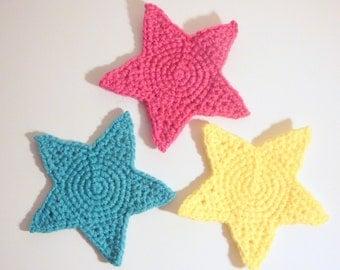 Star Coasters PDF Crochet Pattern INSTANT DOWNLOAD