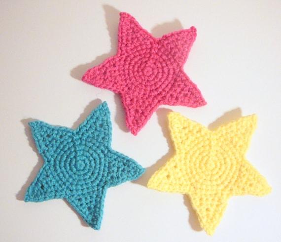 Tutorial Estrella Amigurumi Star : Posavasos de estrella PDF Crochet patron descarga ...