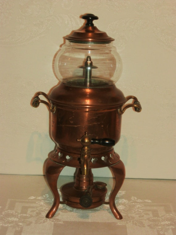 antique sternau and company copper coffee pot new york. Black Bedroom Furniture Sets. Home Design Ideas