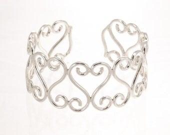Silver cuff ,sterling bangle bracelet