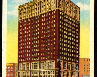 1940c Hotel Continental, 11th and Baltimore Postcard, Kansas City MO, Unused Vintage