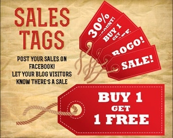 Red Sales Tag Digital Clipart