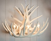 White Antler Chandelier | faux Antler Chandelier W9C | Antler Chandelier | Antler Lighting