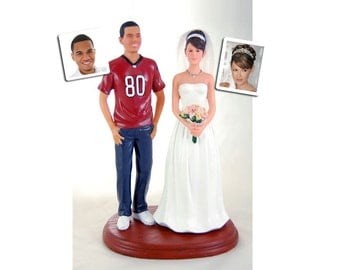Custom Sports Jersey Wedding Cake Topper with Your Choice of Bride
