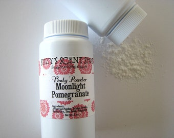 Silky Dusting Body Powder - Moonlight Pomegranate - Talc Free - Natural - Vegan  - Bath and Body -