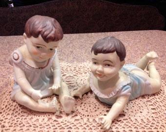 Vintage, porcelain, piano Babies